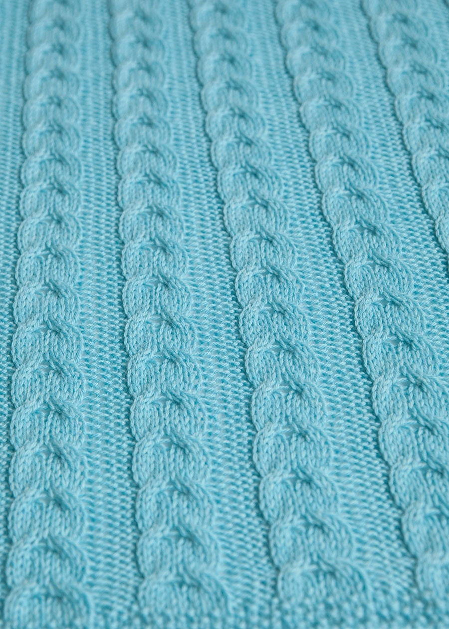 Knit Pattern Baby Blanket Cable : Cable Knit Baby Blanket Knitting Pattern
