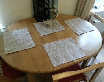 Hessian and White Lace Placemats