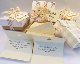 New Baby Quotes - Parenthood Quotes - Box of 60 Handmade Quotations.