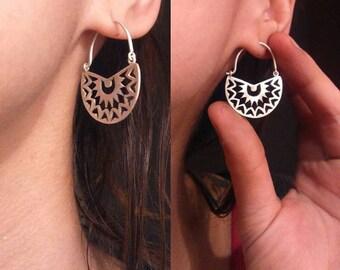 Silver Handmade Mandala Earrings