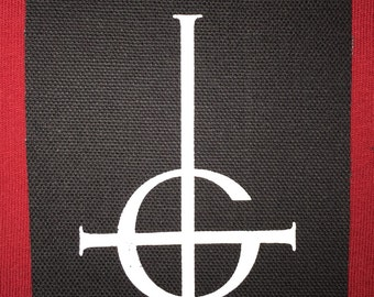 Ghost Cross Cloth Punk Patch