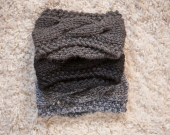 The Lyndsay Wool Headband (Charcoal, Black & Grey Multi)