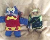 Small Kitten  Recycled Stuffed Animal Cat Toy Soft Art Creature Nursery