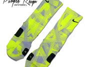 Custom Nike Elite \u0026quot;Neon Venom\u0026quot; Socks
