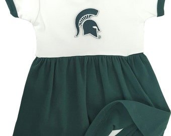 Michigan State Spartans Baby Bodysuit Dress