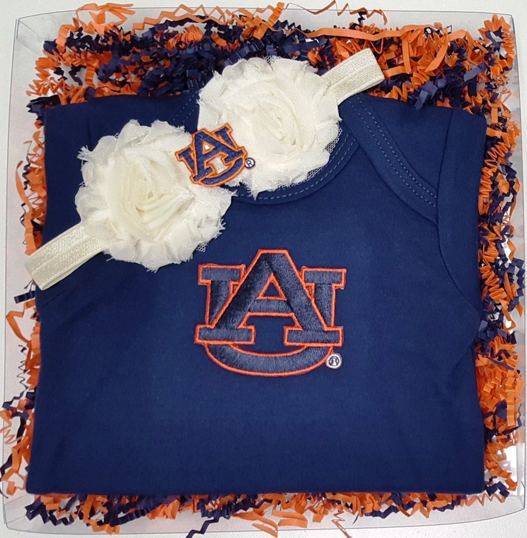 Auburn Tigers Game Day Gal Baby Clothing Gift Set