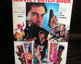 Vintage 1987 The Official James Bond 007 Movie Poster Book Goldfinger Thunderball