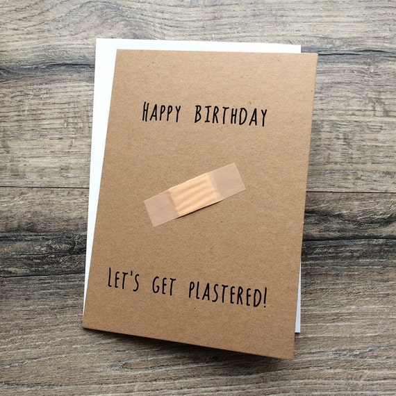 Handmade greeting birthday card brother friend sister – Novelty Birthday Cards
