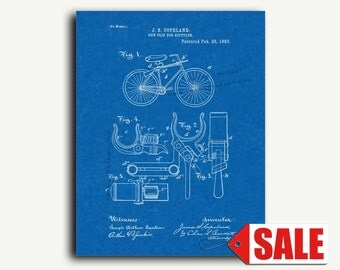 Patent Art - Gun Clip For Bicycles Patent Wall Art Print