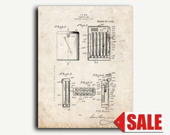 Patent Print - Cigarette-case Patent Wall Art Poster