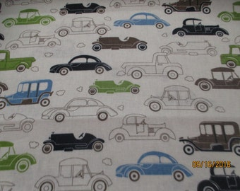 Vintage Cars by David Textiles fabric