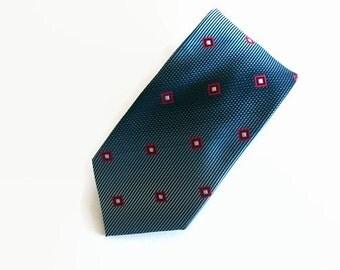Vintage necktie, blue necktie, Westbury necktie, silk necktie, blue silk tie, blue silk necktie, Westbury silk tie, silk tie, blue tie, tie