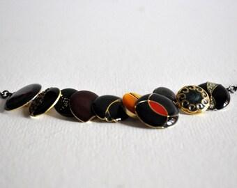 Vintage buttons bracelet
