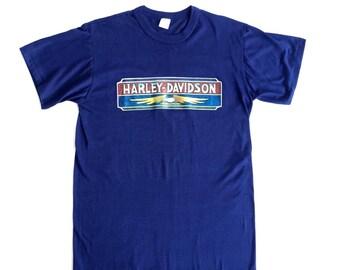 Vintage 80s Harley Davidson Biker Tshirt