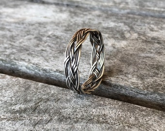 Celtic braid ring in sterling