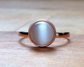 Rose Gold plated cats eye ring