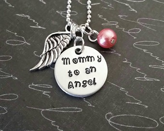 Miscarriage necklace, memorial necklace, miscarriage jewelry, loss of infant, mommy to an angel, pregnancy loss, baby memorial n jewelry