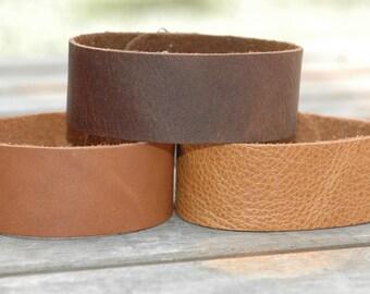 "Wholesale 1"" leather Cuff Bracelet - Cuff Wristband - 3pk Cuffs"