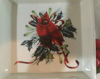 Christmas Lenox Winter Greetings Napkin Holder with Box