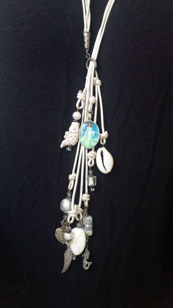 Lariat Yemaya/Yamoja Goddess of the Sea Necklace