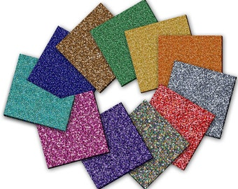 Glitter Acrylic Laser-Cut into  Standard or Custom Shapes