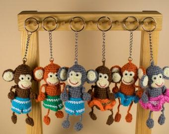 Keychain Monkey, Amigurumi Monkey, Stuffed Monkey, Crochet Monkey, Keychain