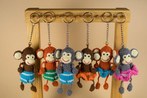 Amigurumi Monkey Keychain : Keychain Monkey Amigurumi Monkey Stuffed Monkey Crochet