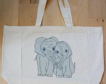 Elephant Love Market Tote Bag