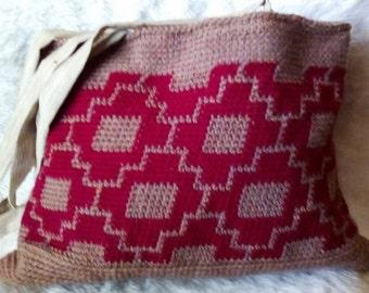 Hand crocheted Tote Bag