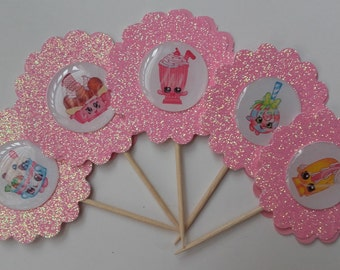 Shopkins Cupcake Toppers, , Birthday Cake Toppers, Shopkins Inspired Cupcake Toppers, Shopkins Theme Party, Party Favor