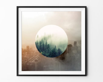 Nature // City   Contrast Photography   Professional Matte Photo Paper   12 x 12 Inch