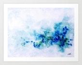 Watercolor Print, Abstract Art, Blue Watercolor, Wall Art,Abstract Art, Beach, Canvas Art, Canvas Print, Ocean, Home Decor, Wall Decor.