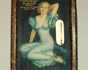 Vintage 1930s Advertising Thermometer