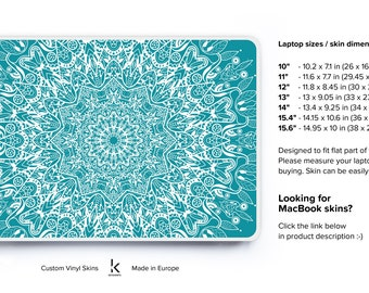 Laptop Decal Skin Case Alternative Mint Mandala Skin Laptop Soft Cover Acer Skin Chromebook Skin Dell Skin HP Skin Lenovo Skin Toshiba Skin