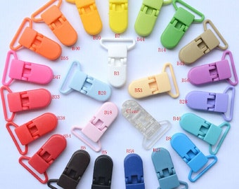 50pcs 25mm Plastic /Clip/Clasp For Pacifier sootherMT1-006