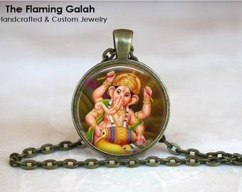 GANESH Pendant •  Indian Elephant Headed God •  Indian God of Wisdom •  Hindu God of Wisdom •  Made in Australia •  (P0684)