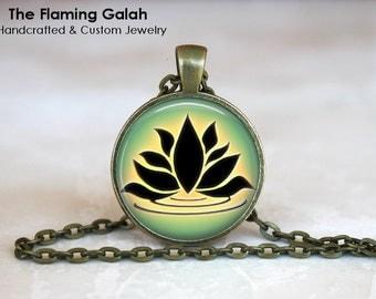 GREEN LOTUS FLOWER •  Buddhist Flower •  Peace Flower •  Yoga Flower •  Meditation Flower • Gift Under 20 • Made in Australia (P0358)