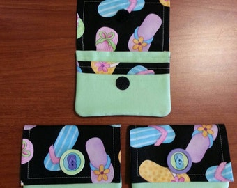 Flip Flop Fabric Credit Card Wallet
