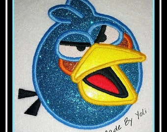 Embroidery Design Digitized Blue Bird Applique 4x4