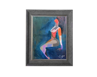 """Night Dip Oil Painting 12""""x16"""""""