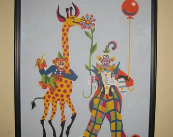 Vintage Clown Circus Paint By Number