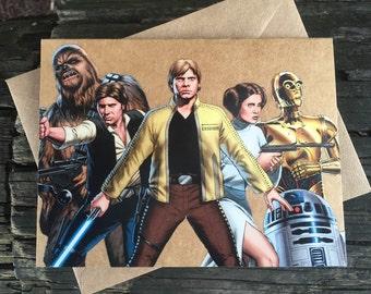 Star Wars Comic Book Greeting Card (Blank)