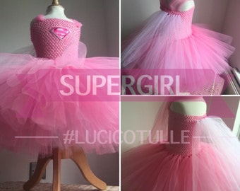 Super hero style tulle tutu dress