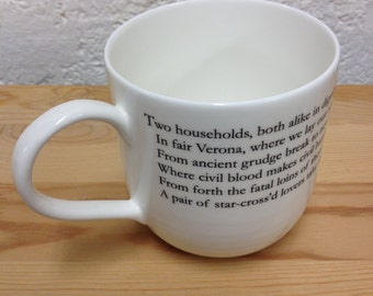 Giant Literary Romeo and Juliet Quote Giant Mug