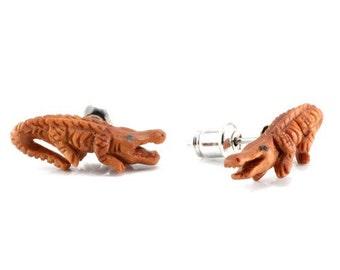 Pair of Crocodile Stud Earrings