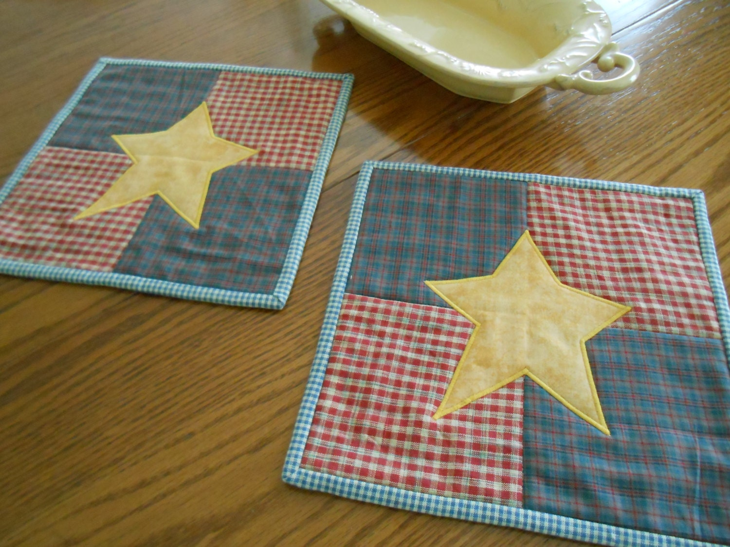 Homespun Table Mats Candle Mats Rustic Table Toppers