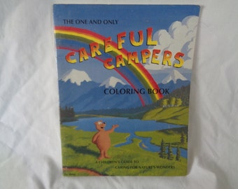 vintage 1990 The One and Only Careful Campers Coloring Book A Children's Guide to Caring for Nature's Wonders