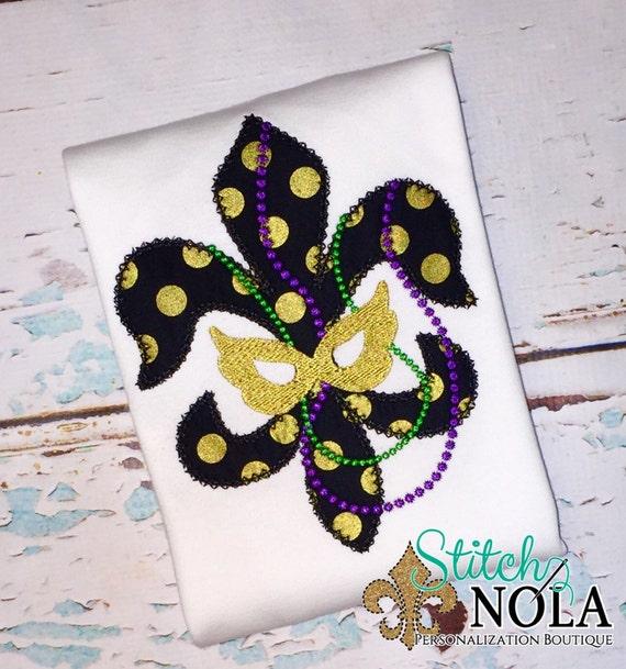 Fleur de lis with Mask & Beads Shirt, Gown or Bodysuit