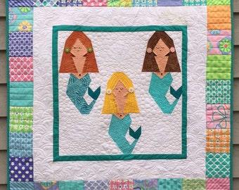 Mermaid Paper Pieced Quilt Pattern in PDF
