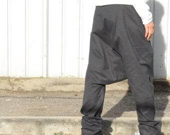 Harem winter pants, women pants, cotton harem black pant, women's fashion, plus size clothing, warm winter pant, oversized clothing S - 3XL